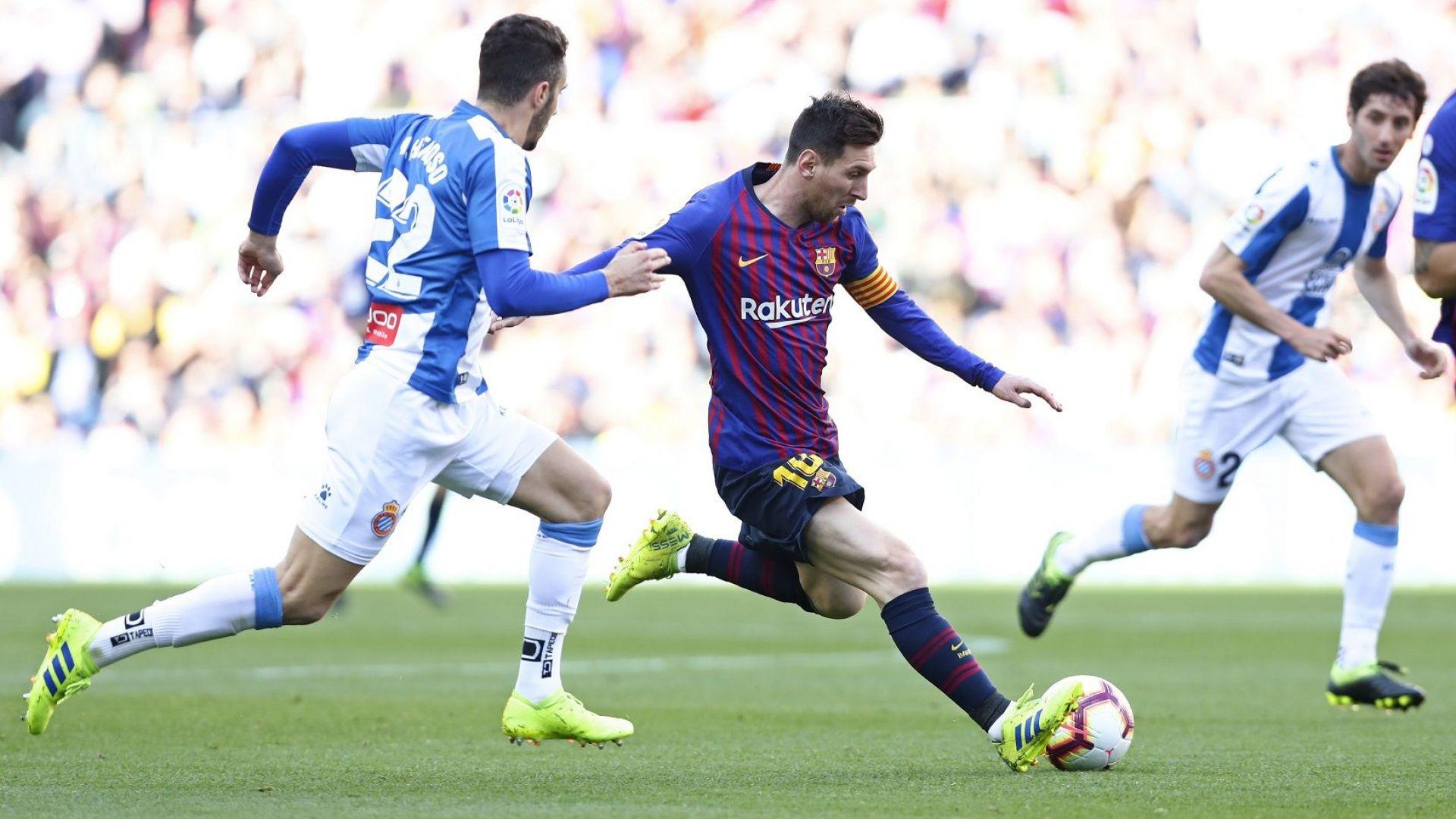 Магията на Меси реши дербито на Барселона