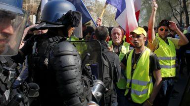 Сълзотворен газ срещу жълти жилетки в Париж, погроми в други градове