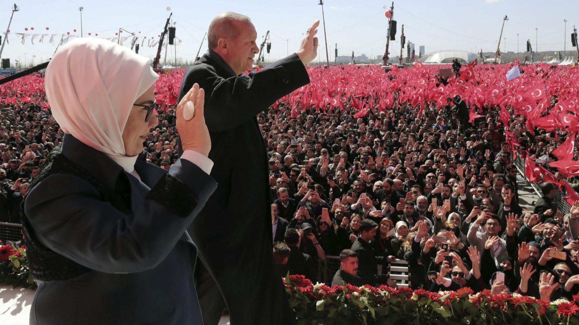 Турският президент Реджеп Тайип Ердоган направи спорно изказване по време