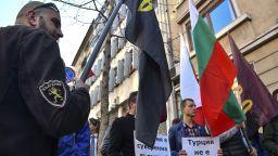 ВМРО протестира пред турското посолство (снимки)