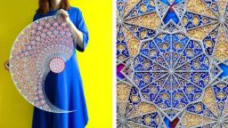 Арабска художничка създава вълнуващи шедьоври от хартия