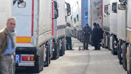 Огромна опашка от камиони се изви на ГКПП Кулата