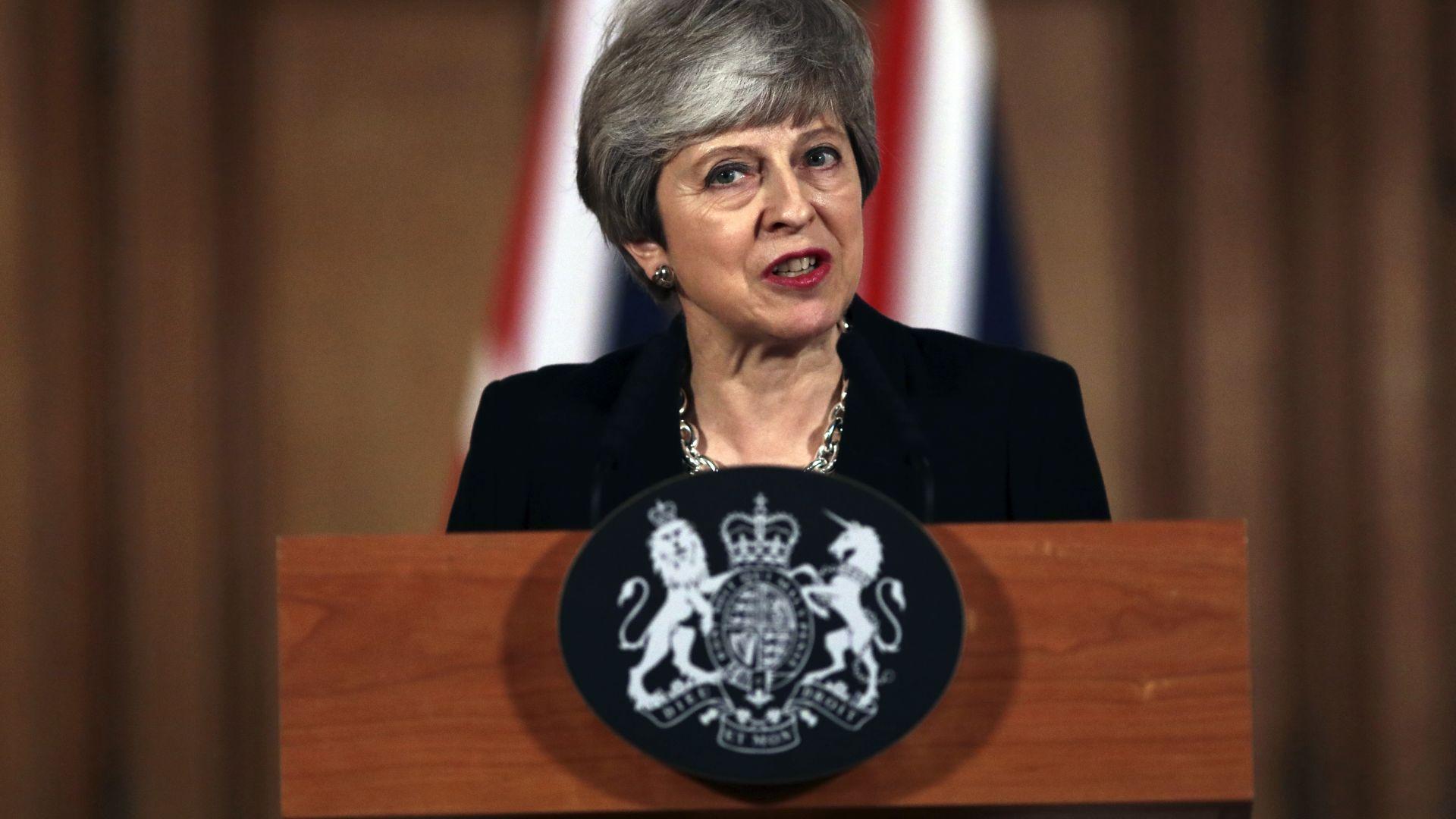 Тереза Мей ще моли ЕС за удължаване на преговорите за Брекзит