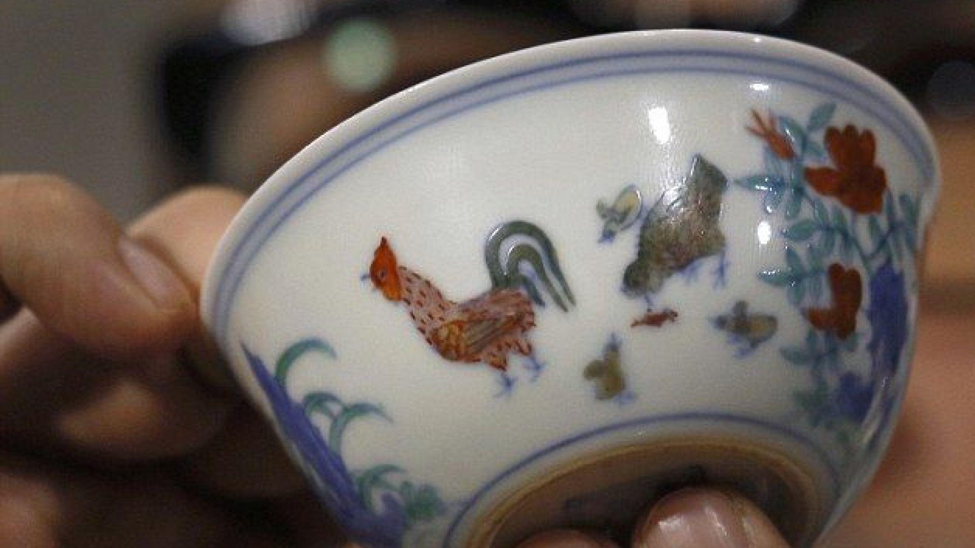 Старинна китайска чаша, изготвена в началото на XV век в