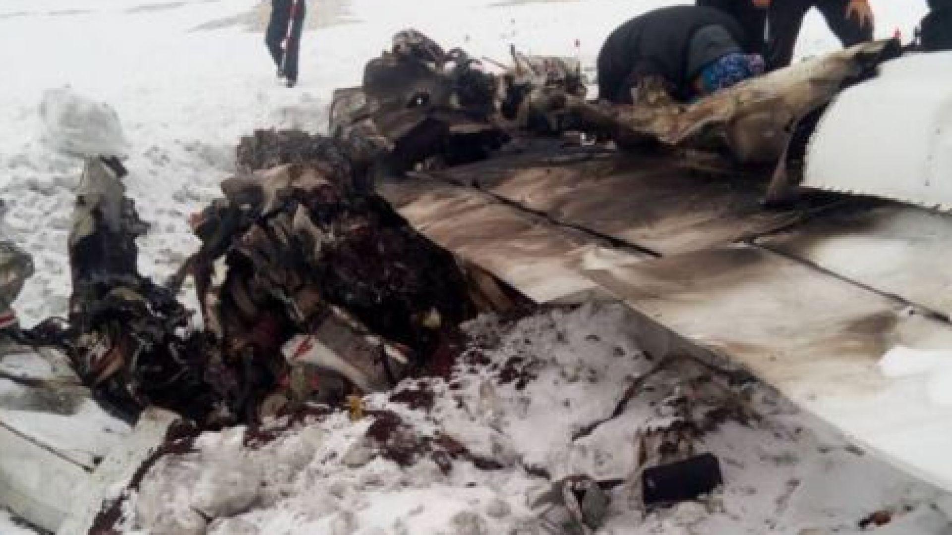 Първи снимки и видео от мястото, където се е разбил самолетът с Бошнакови