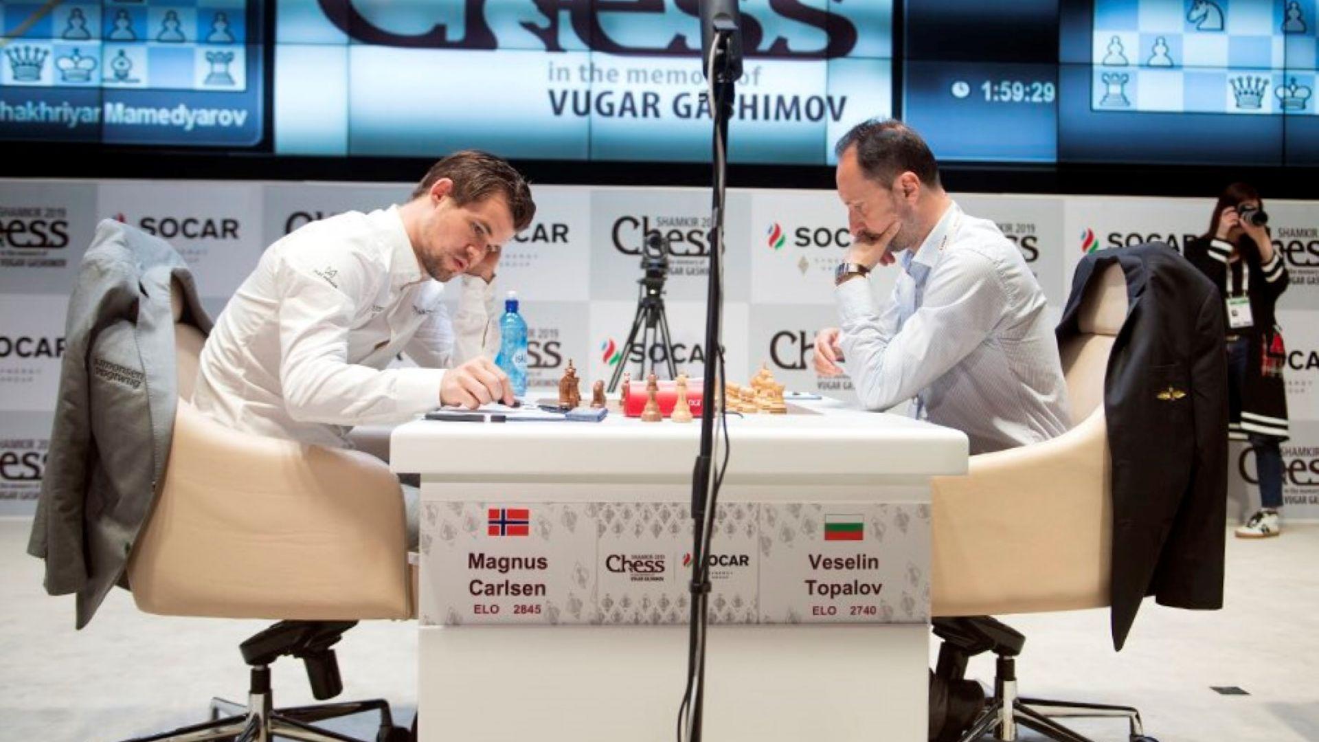 Топалов не се даде на световния шампион Карлсен