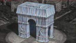Художникът Кристо ще опакова Триумфалната арка през 2020 г.