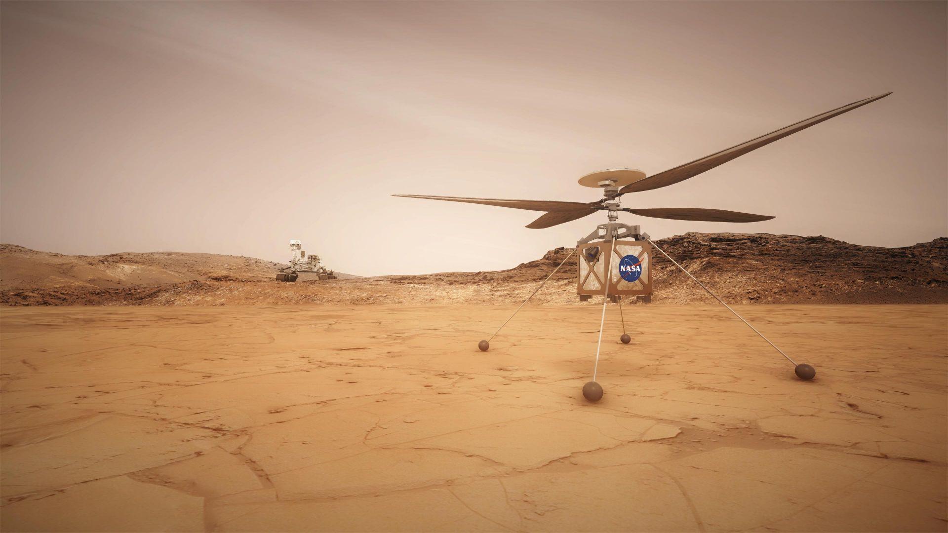 """Хеликоптерът """"Инджинюъти"""" на Марс е в отлична форма"""
