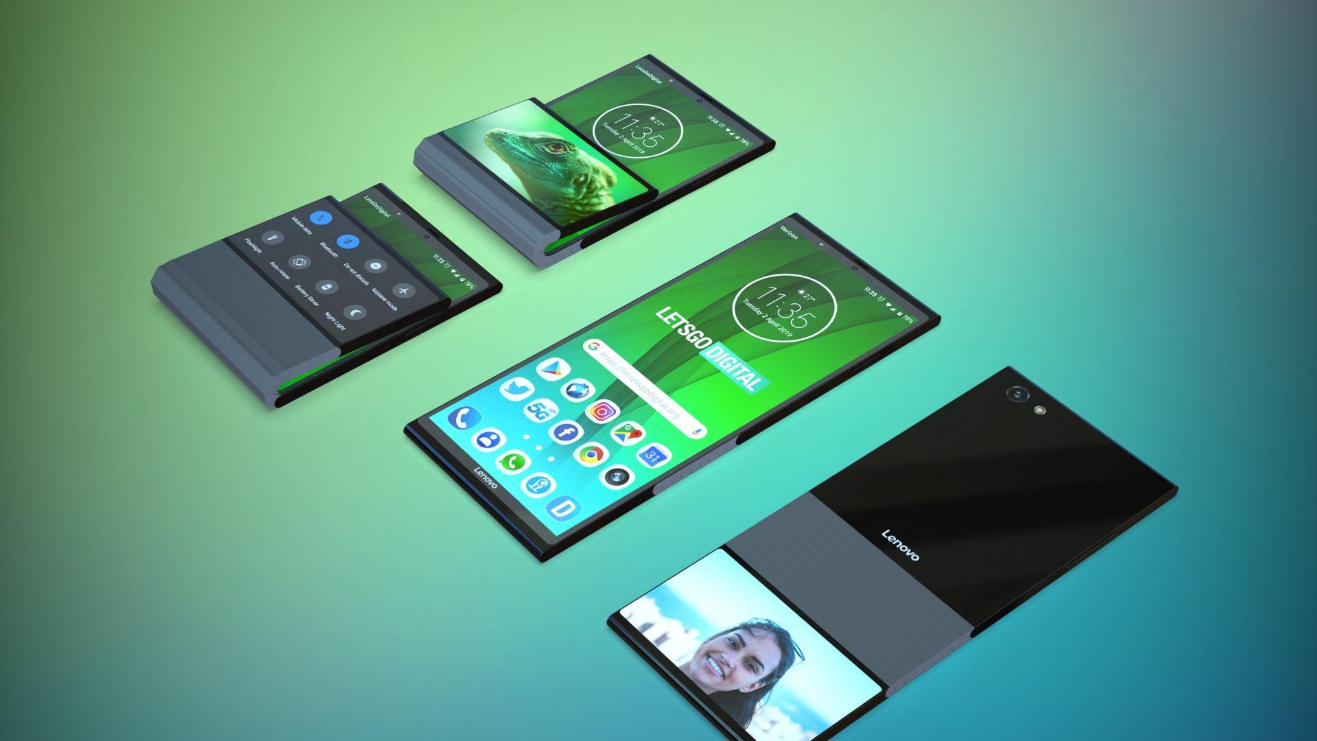 Lenovo патентова странен сгъваем телефон