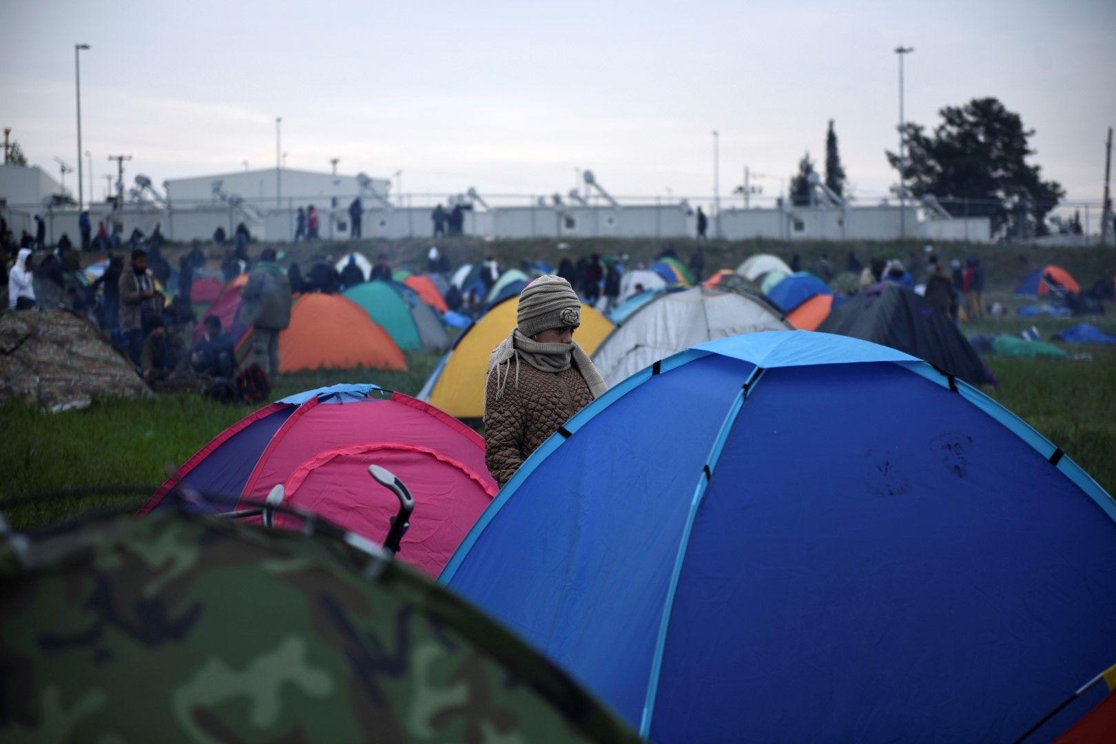 Палатките край Солун