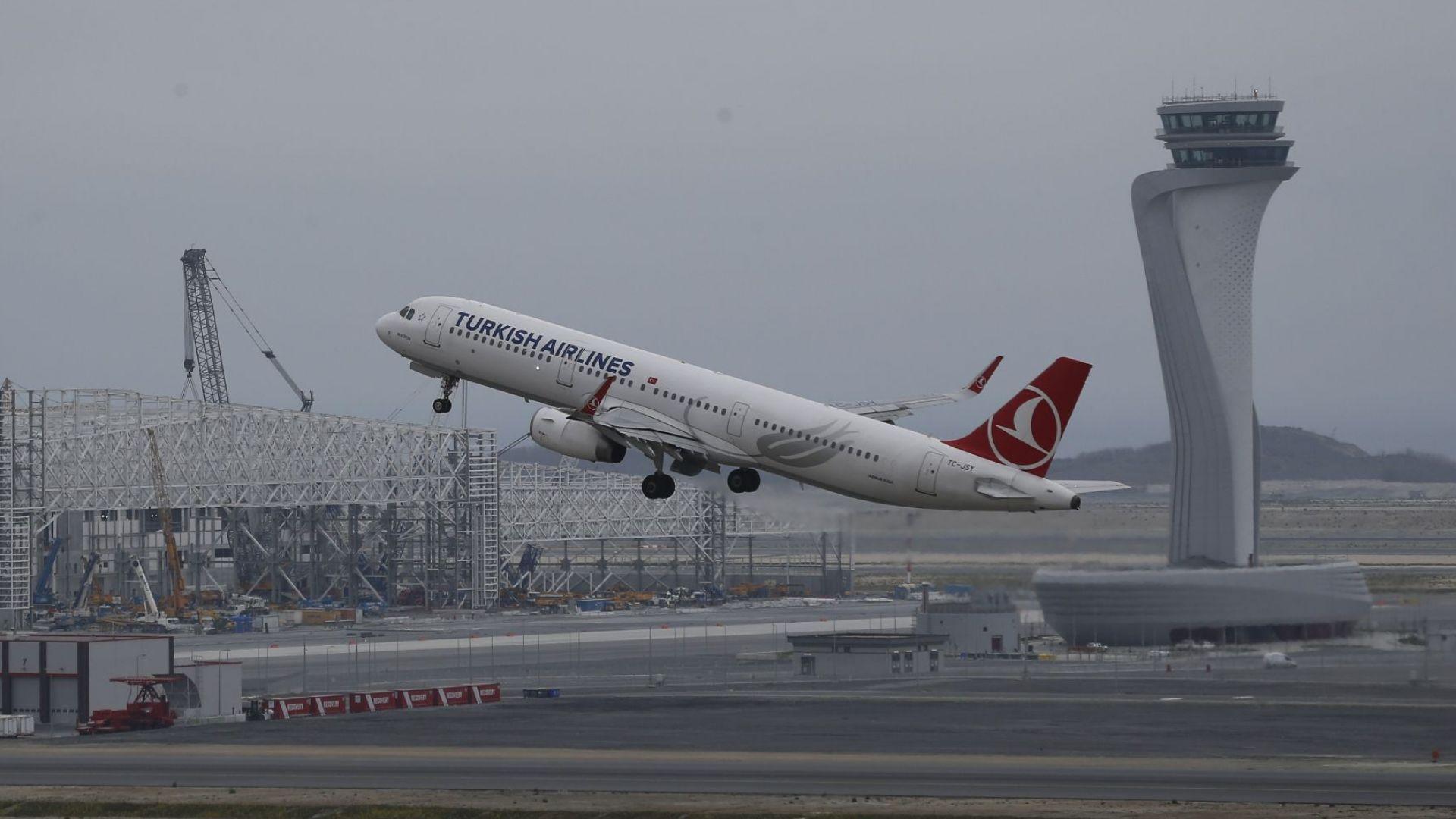 """Новото летище """"Истанбул"""" започна да обслужва редовни граждански полети"""