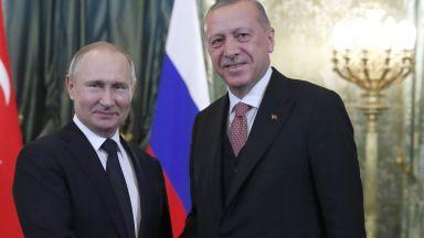 Путин и Ердоган обсъдиха ситуацията в Идлиб и Либия