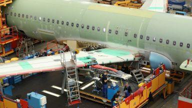 """""""Еърбъс"""" очаква търсенето на нови самолети да достигне 39 210 до 2038-а година"""