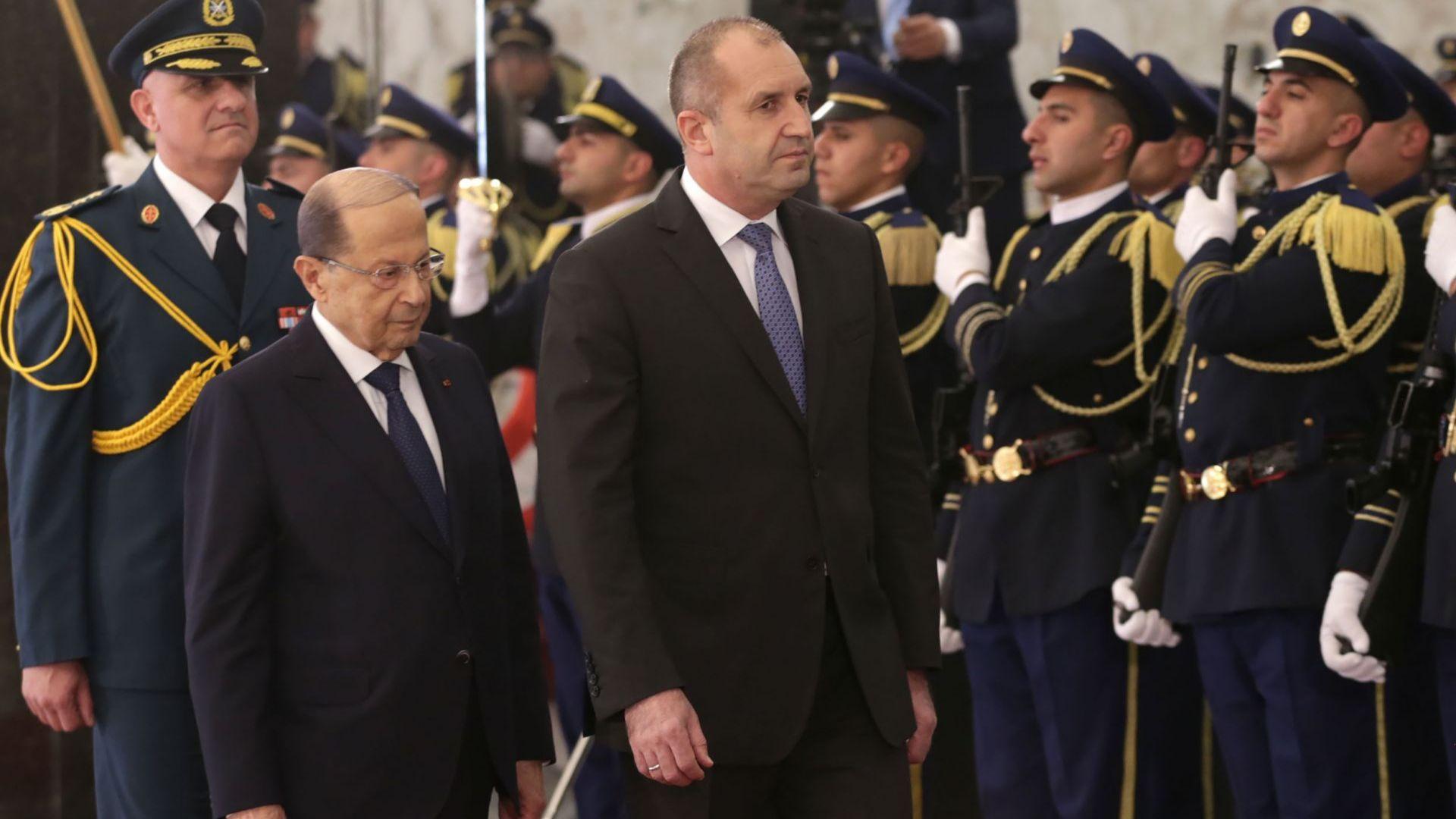 Мишел Аун посреща Румен Радев в Ливан