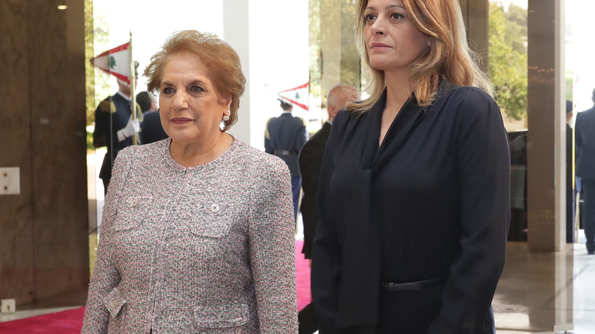 Десислава Радева и съпругата на Мишел Аун