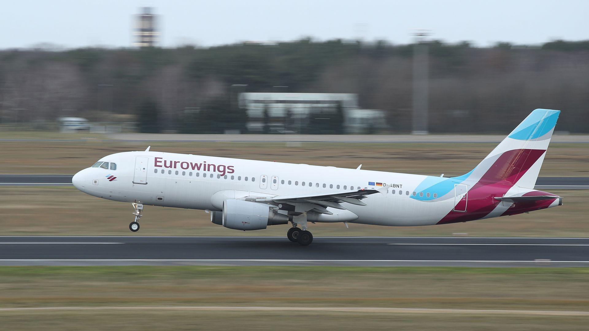 Самолет, пътуващ от Германия, трябваше да направи обратен завой и