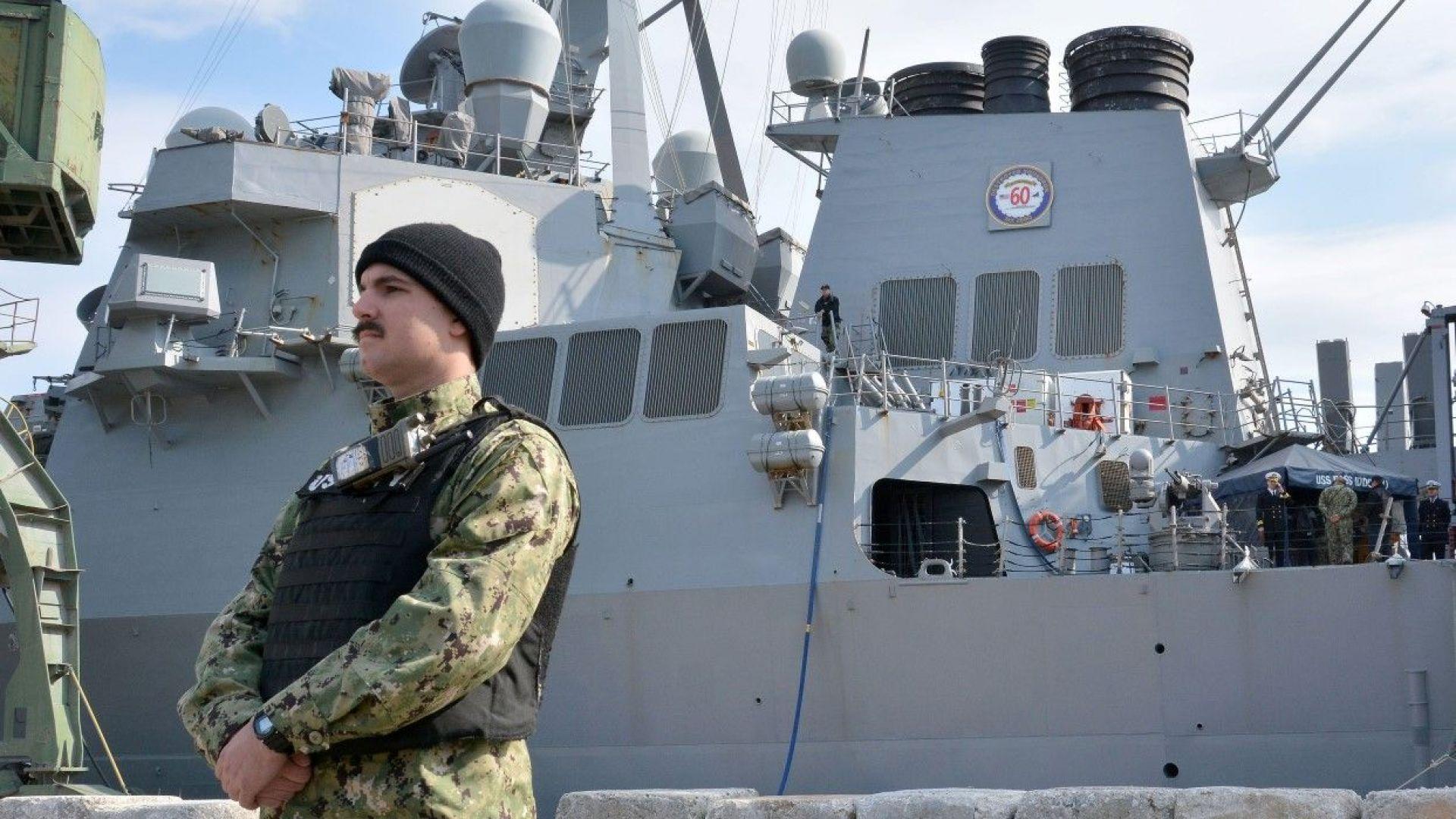 Американски боен кораб акостира във Варна