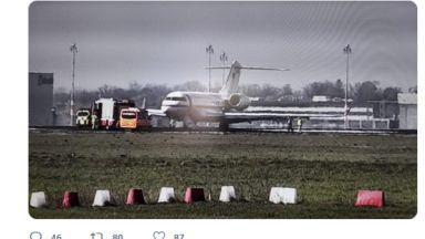 Германски правителствен самолет блокира летищна писта