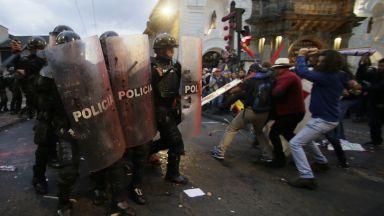 Сблъсъци в Еквадор на протест в защита на Асандж (снимки)