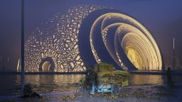 Изграждат театър в Китай с формата на пъзел