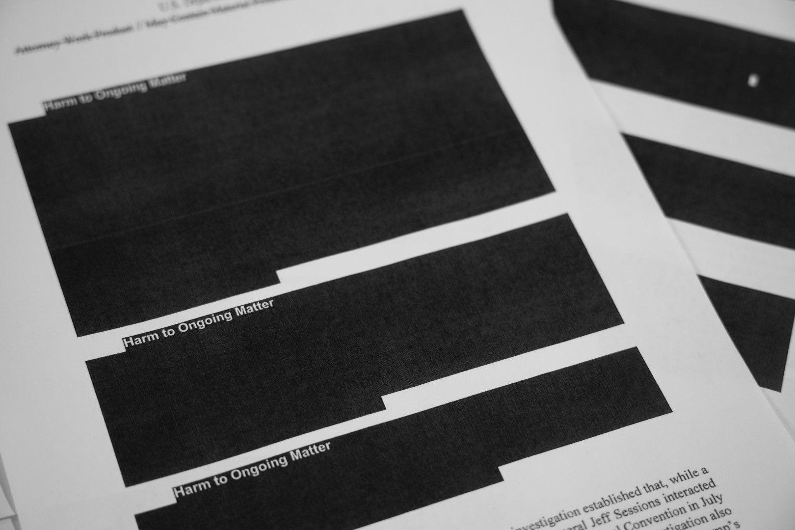 Докладът на специалния прокурор за руска намеса в кампанията на Тръмп беше редактиран