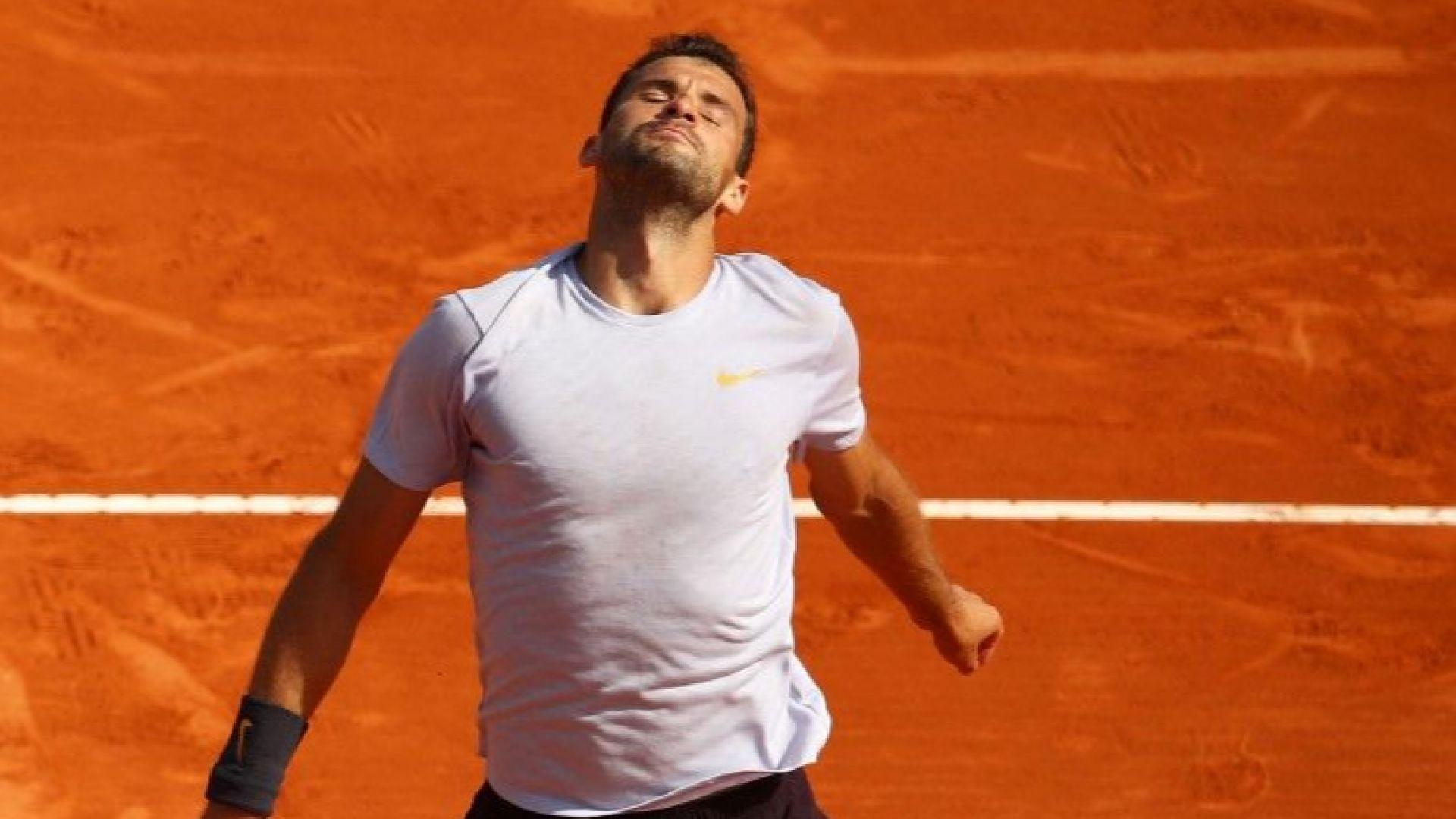 Григор Димитров пропадна до ръба на топ 50