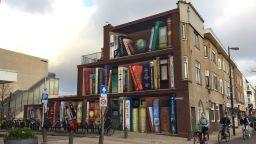 Фасада-библиотека гъделичка мозъка