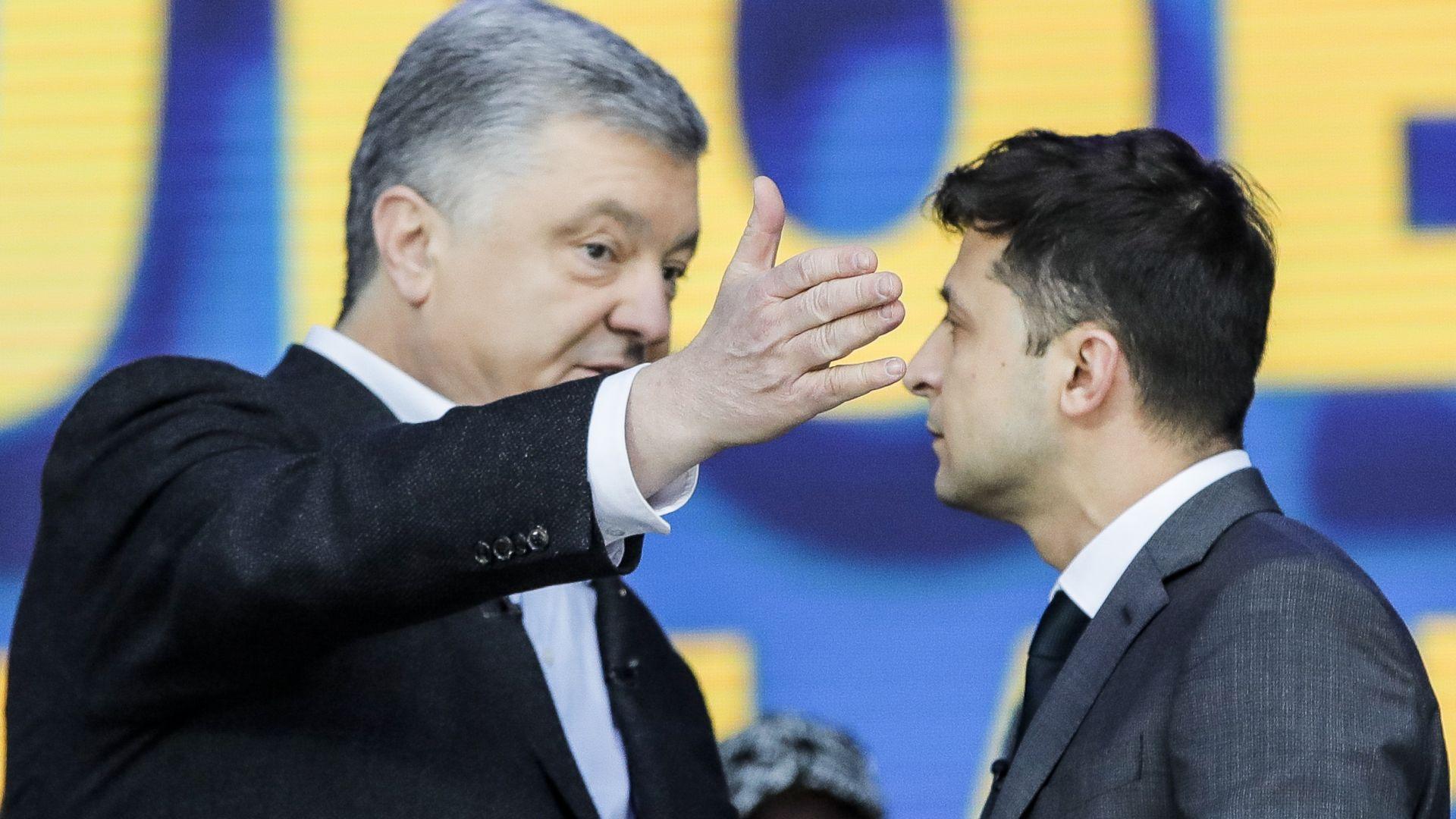 Основните претенденти за поста - досегашният държавен глава Петро Порошенко