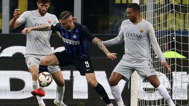 Интер измъкна точка от дербито в преследването на Шампионска лига