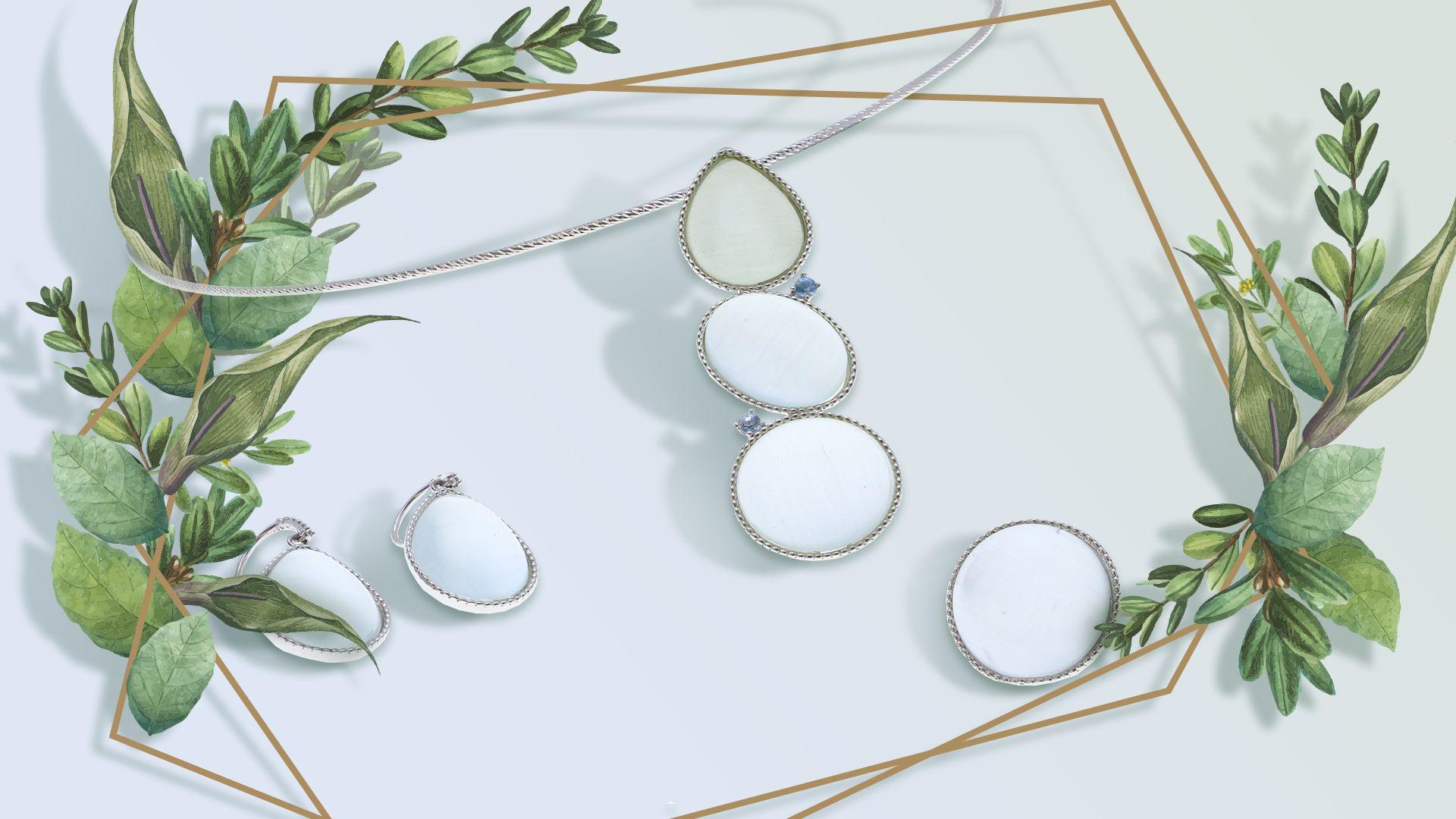 Сребърни бижута с камъни нисък клас
