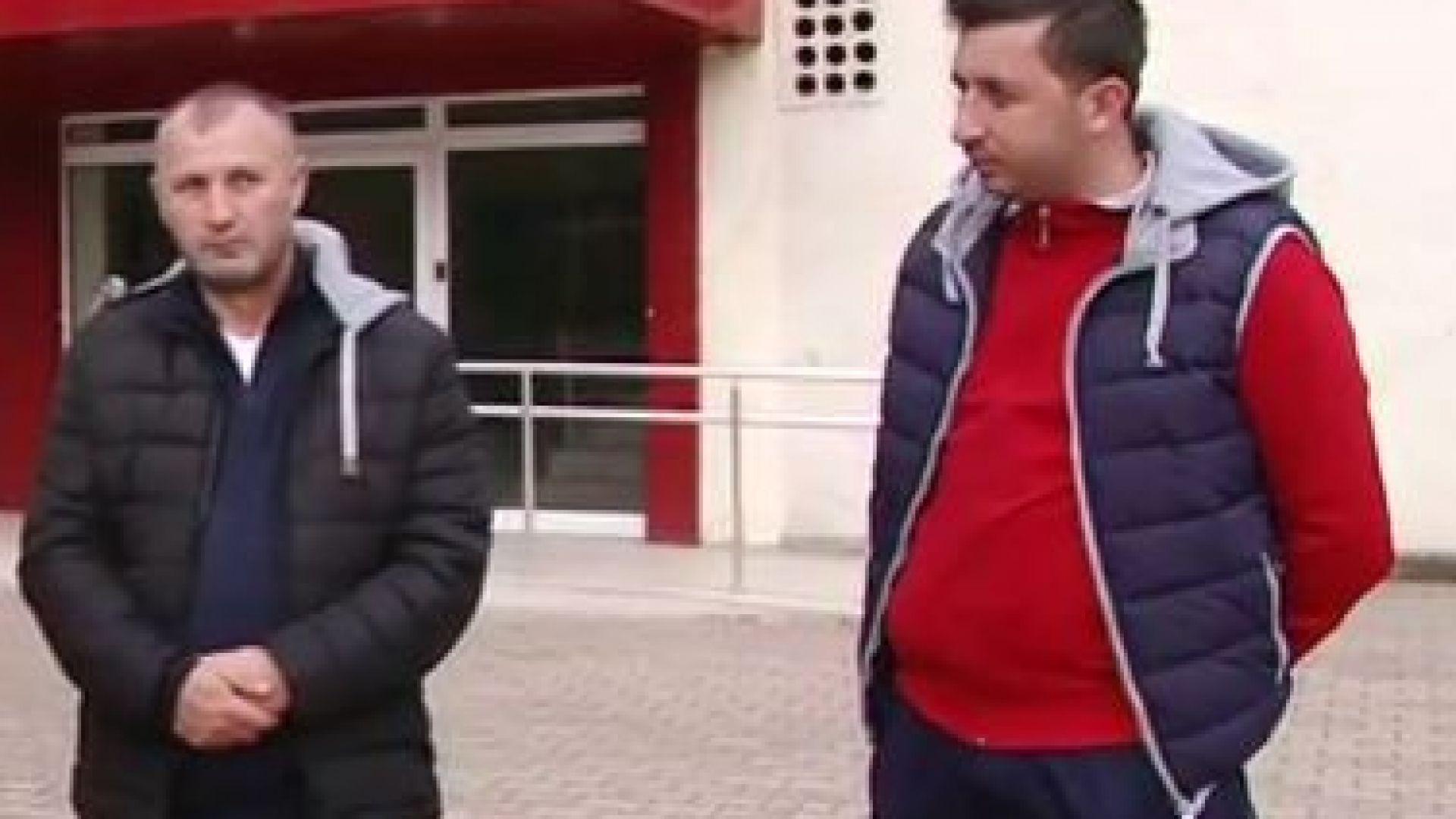 Юсеин Ахмед Т. (в дясно), бащата на загиналото бебе от инцидента с Лютви Местан, застана за първи път пред камера