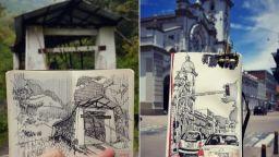 Представяме ви невероятните скици на архитект от Колумбия