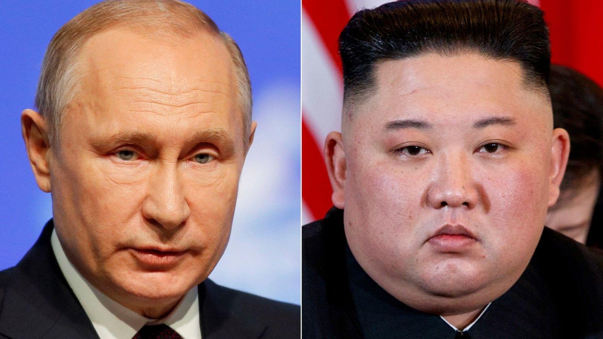 """""""Благодаря, че дойдохте"""", каза Путин на Ким преди срещата им"""