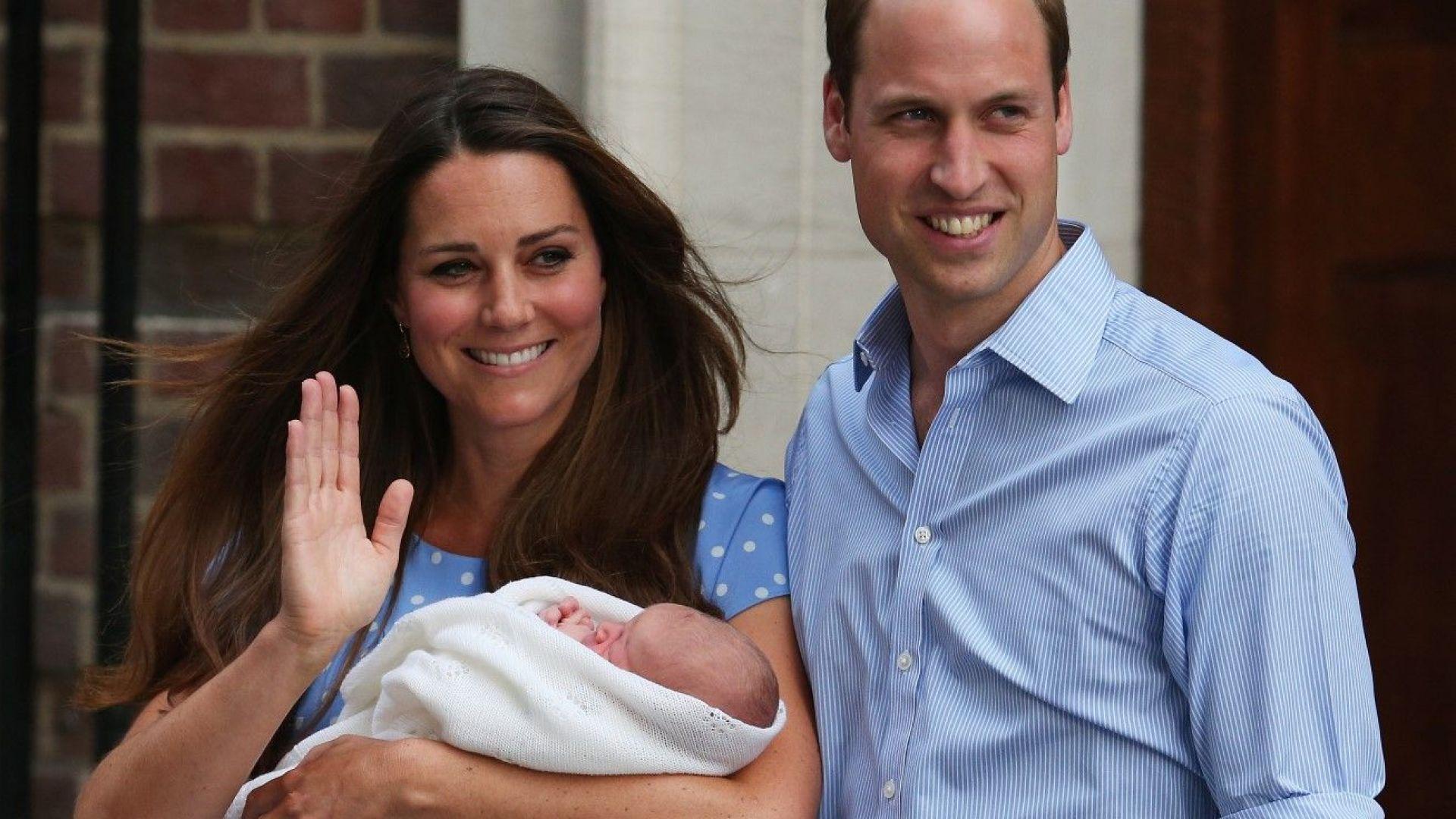 Принц Уилям и Катрин с новородения принц Джордж - 23 юли 2013