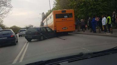 """Голфър влезе под автобус в столичния квартал """"Надежда"""""""