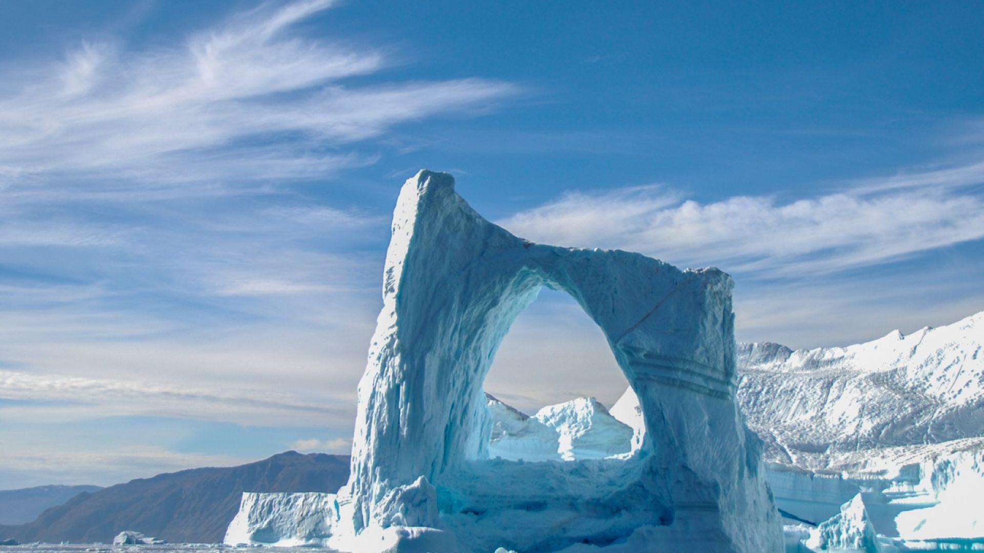 Гренландският лед се топи 6 пъти по-бързо, отколкото преди половин век