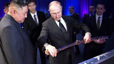 """Путин получи от Ким корейски меч - """"силата и душата на народа"""""""