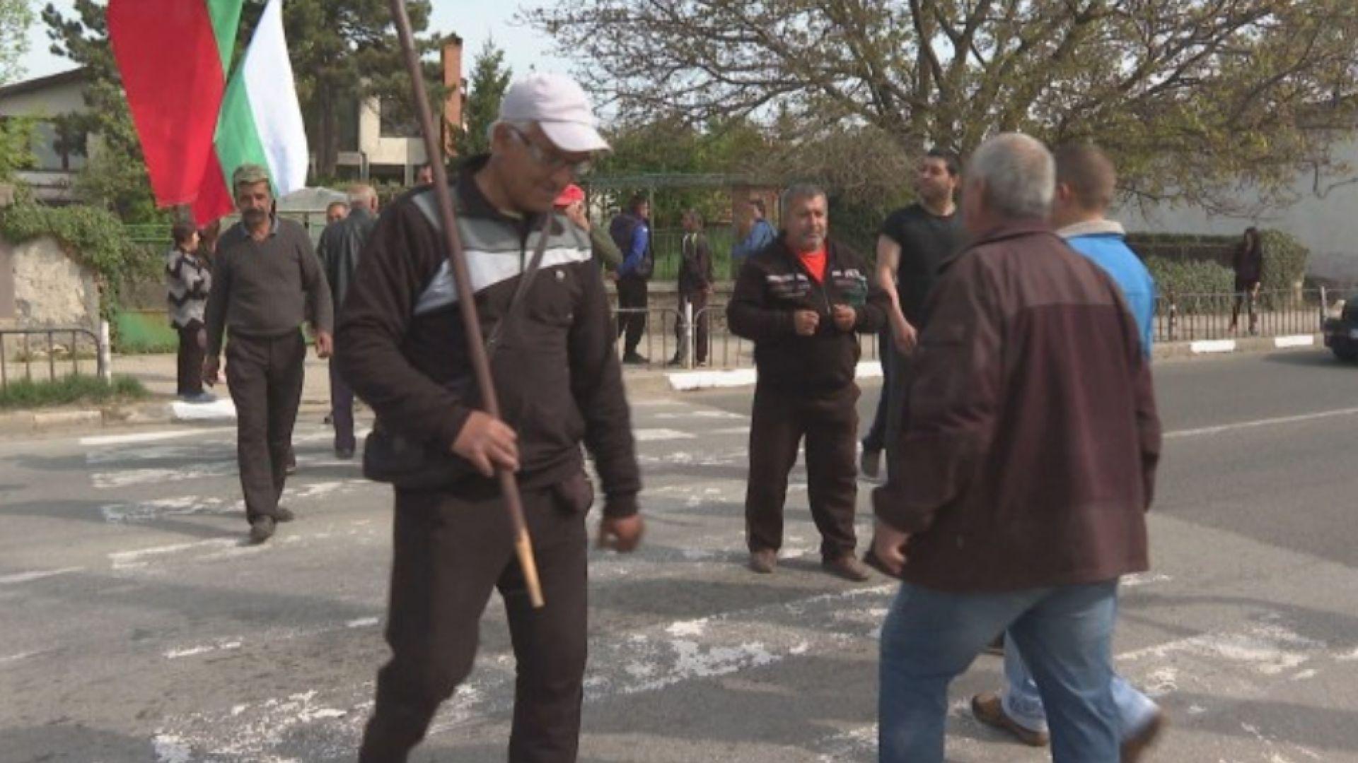 Блокада на пътя за Маказа