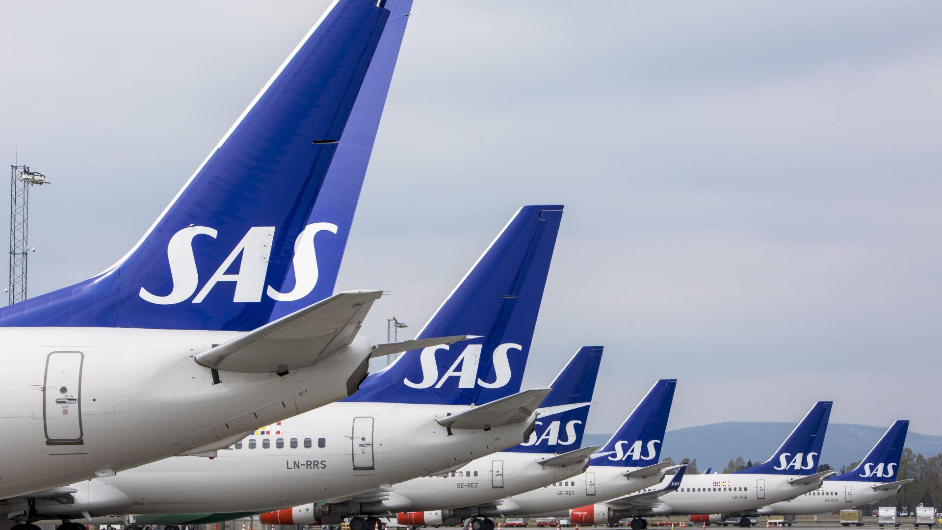 Скандинавската авиокомпания SAS анулира още над 1200 полета заради стачка