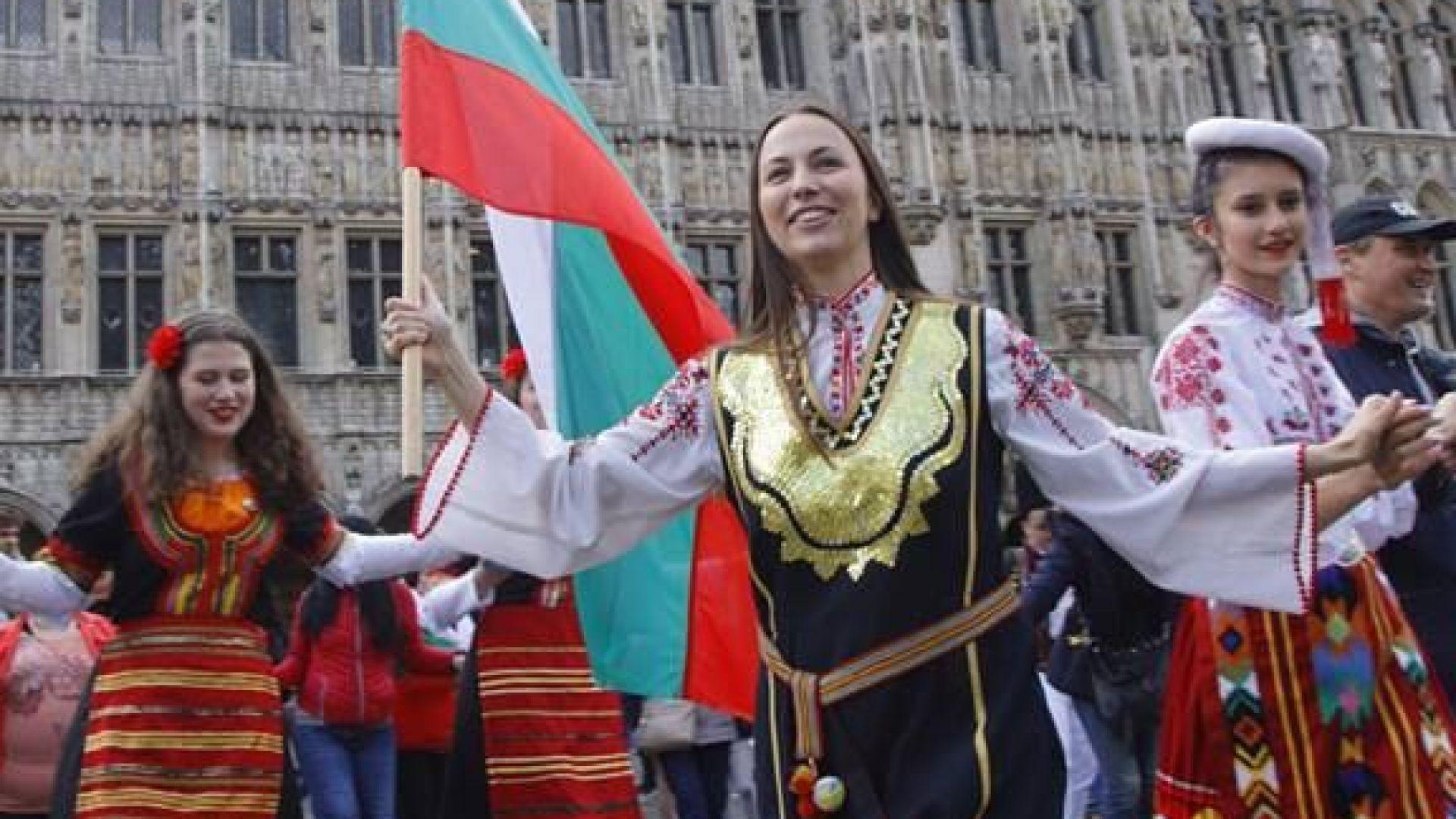 Ева Майдел и българи от цяла Европа поведоха Голямото хоро в Брюксел