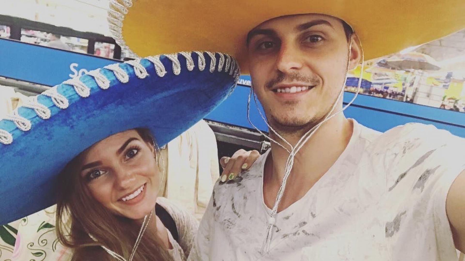 Нанси Карабойчева в Мексико с любимия