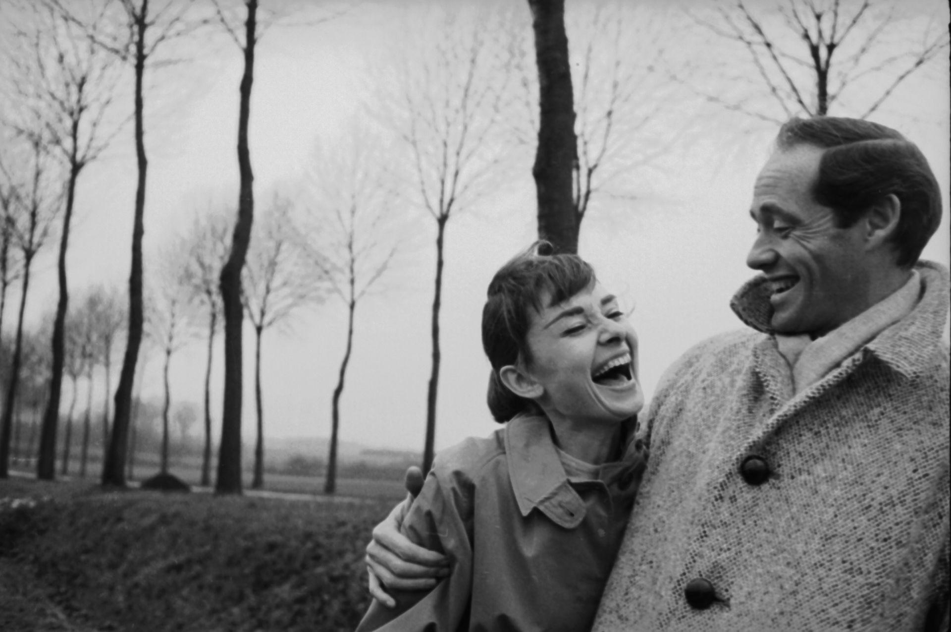 Одри Хепбърн със съпруга си Мел Ферер