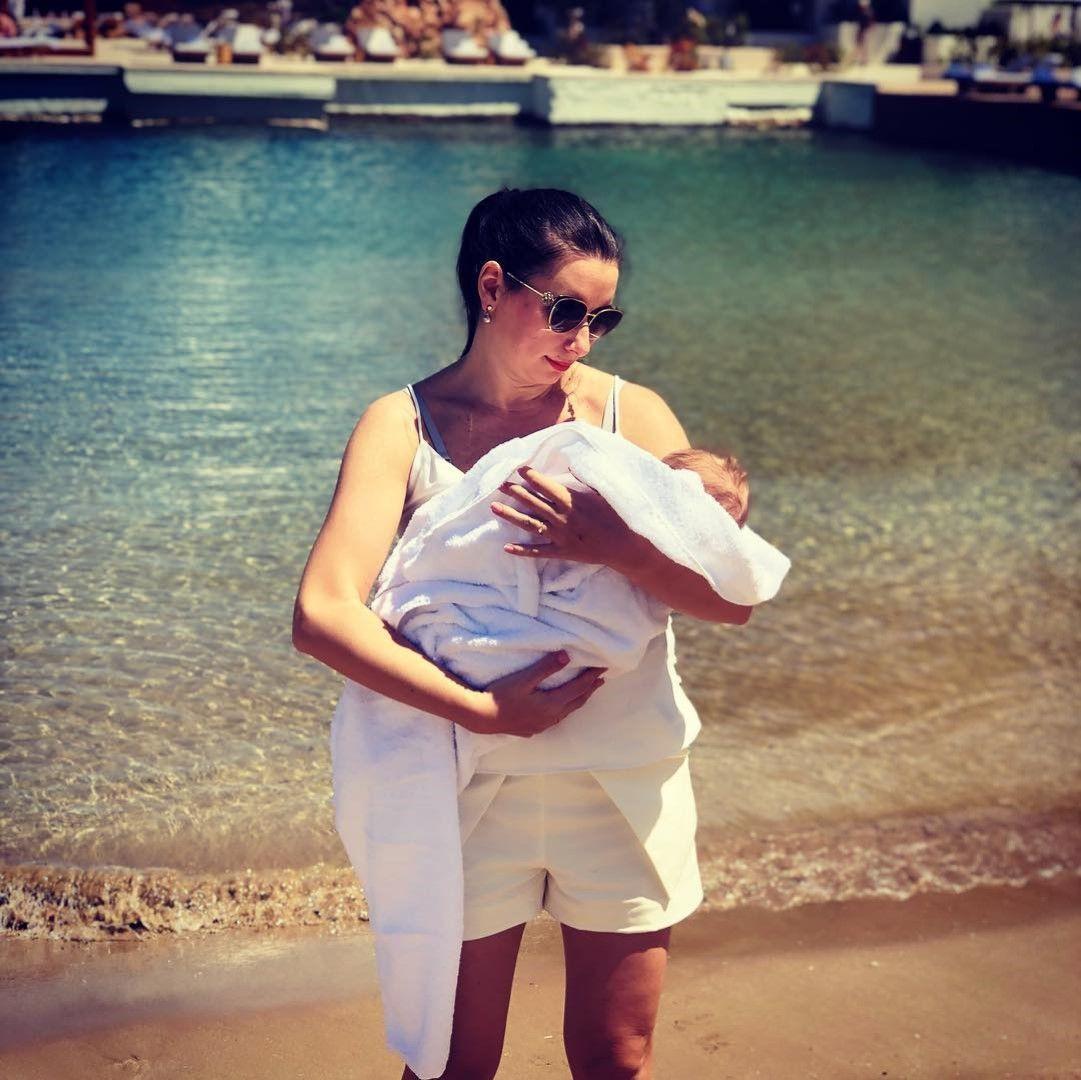 Наталия Кобилкина с бебето си