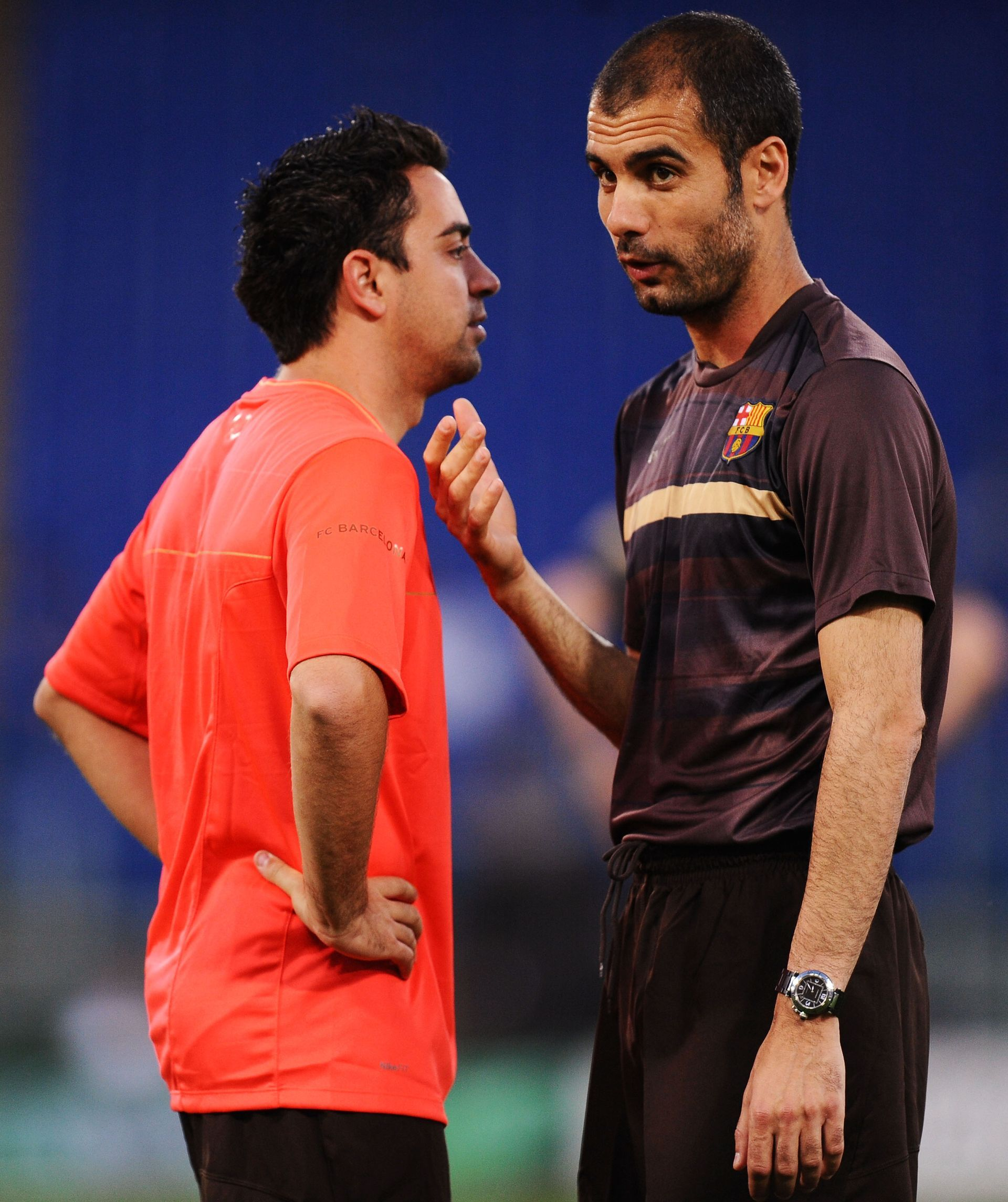 С ментора му, идол като футболист и пример като треньор - Пеп Гуардиола