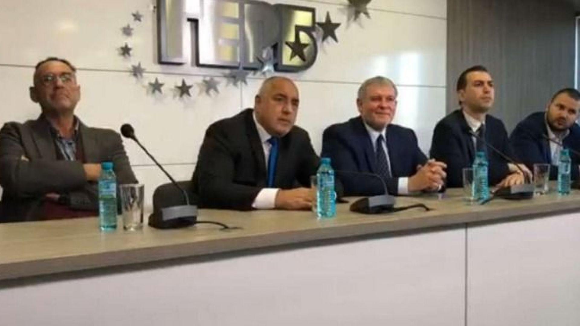 """В присъствието на Борисов СДС и """"Гергьовден"""" подписаха коалиционно споразумение"""
