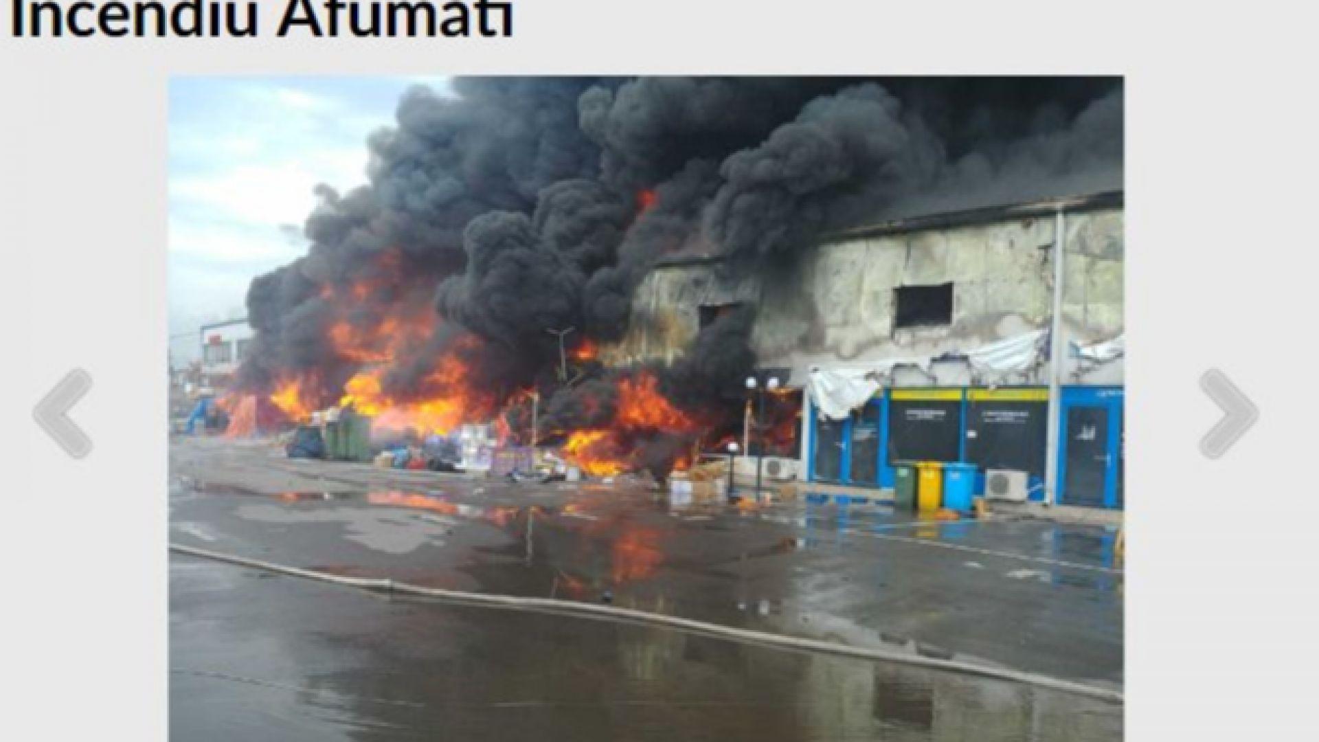 Голям пожар в мол до Букурещ, има ранени, спряха трафика (видео)