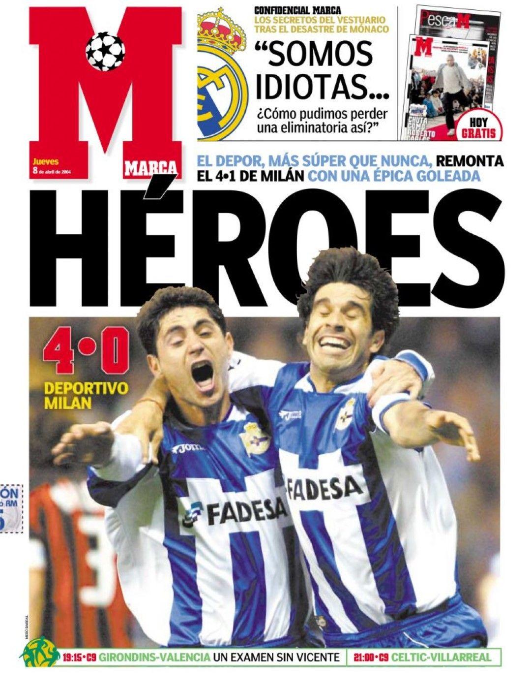 Заглавията в Испания след прочутия обрат на Депортиво срещу Милан, обяснимо еуфорични