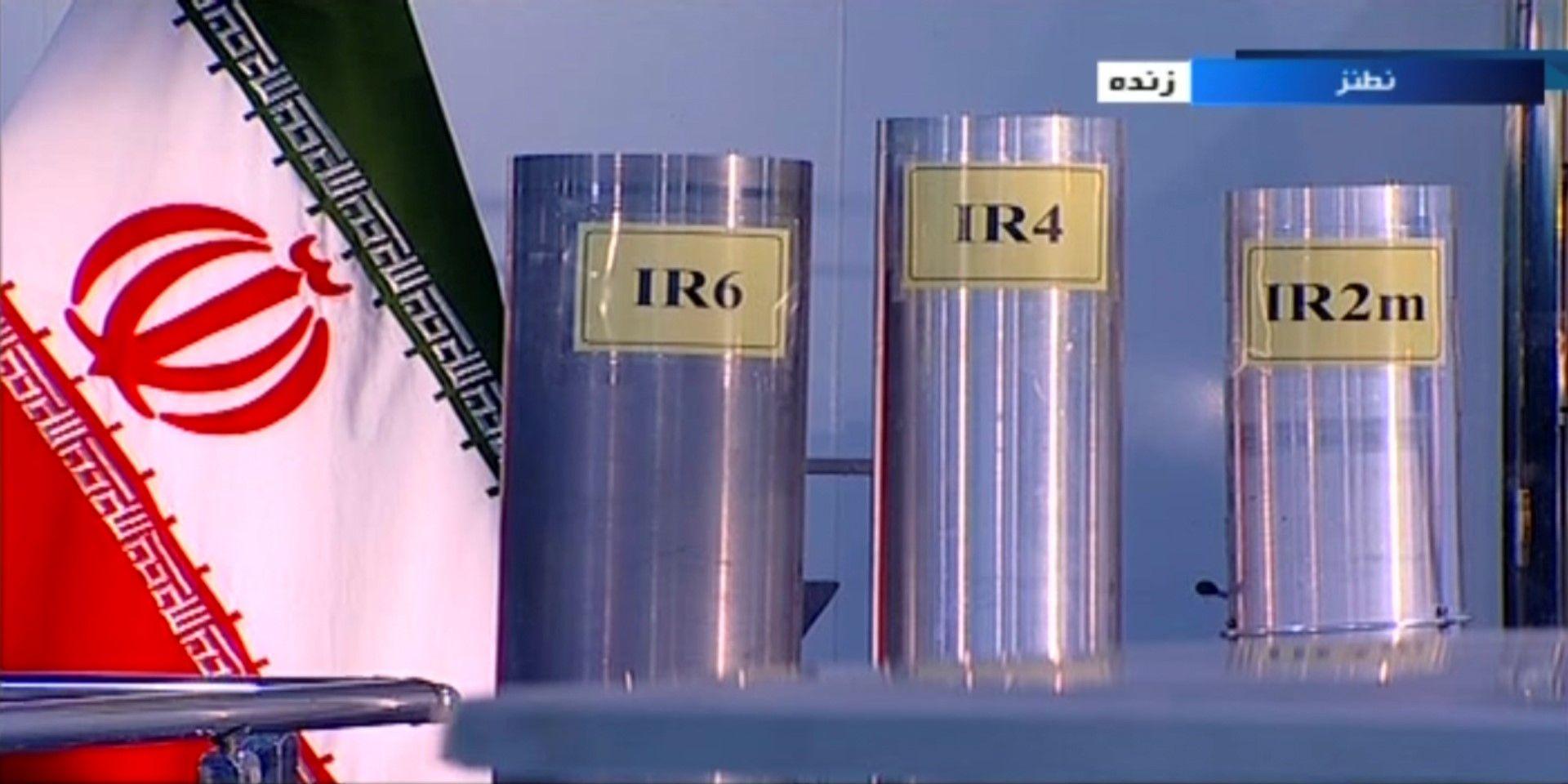 Три варианта на произведени в Иран центрофуги за обогатен уран в Натанц, заводът за обогатяване на уран
