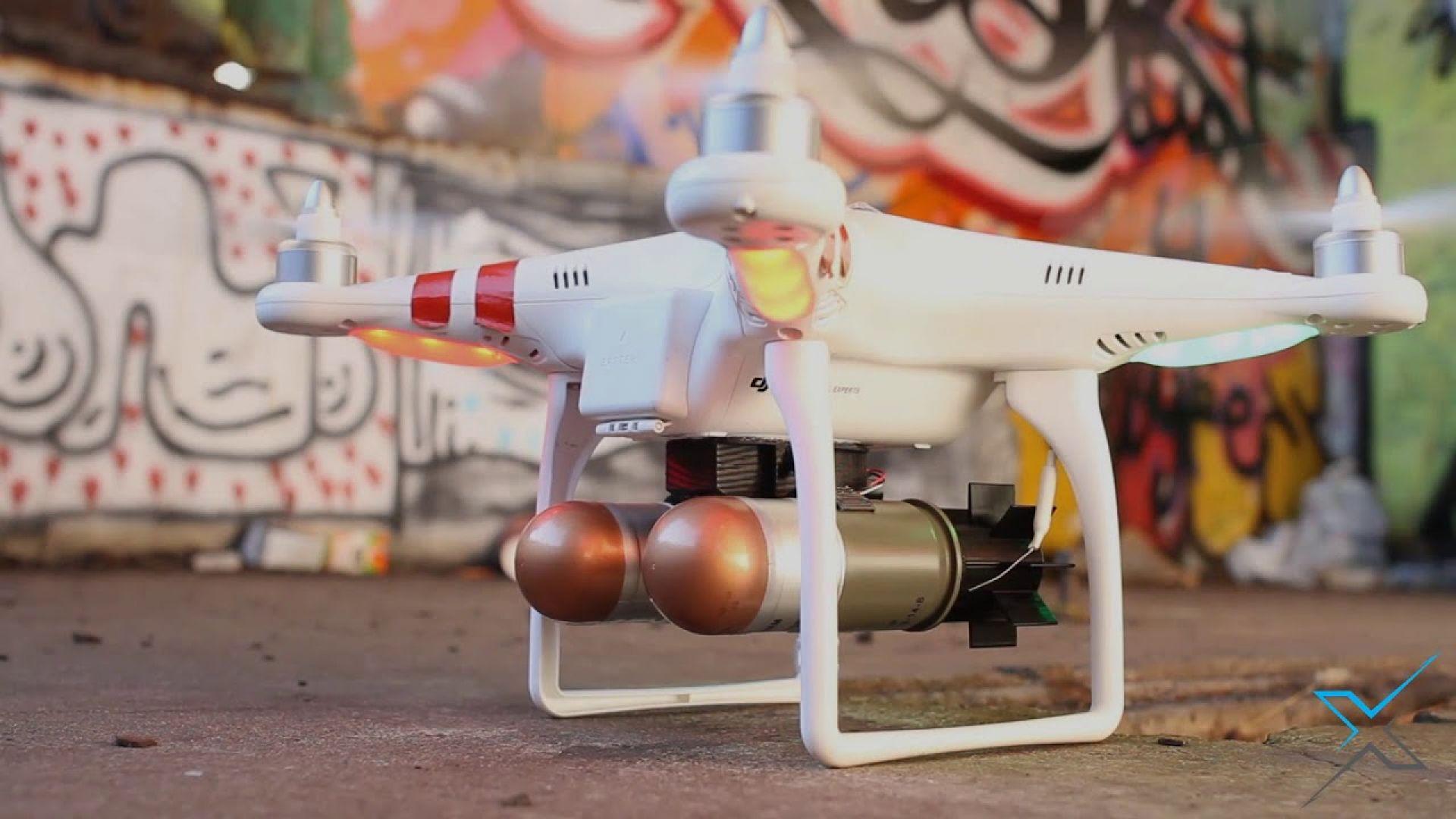 Създадоха дрон, който да сваля други дронове