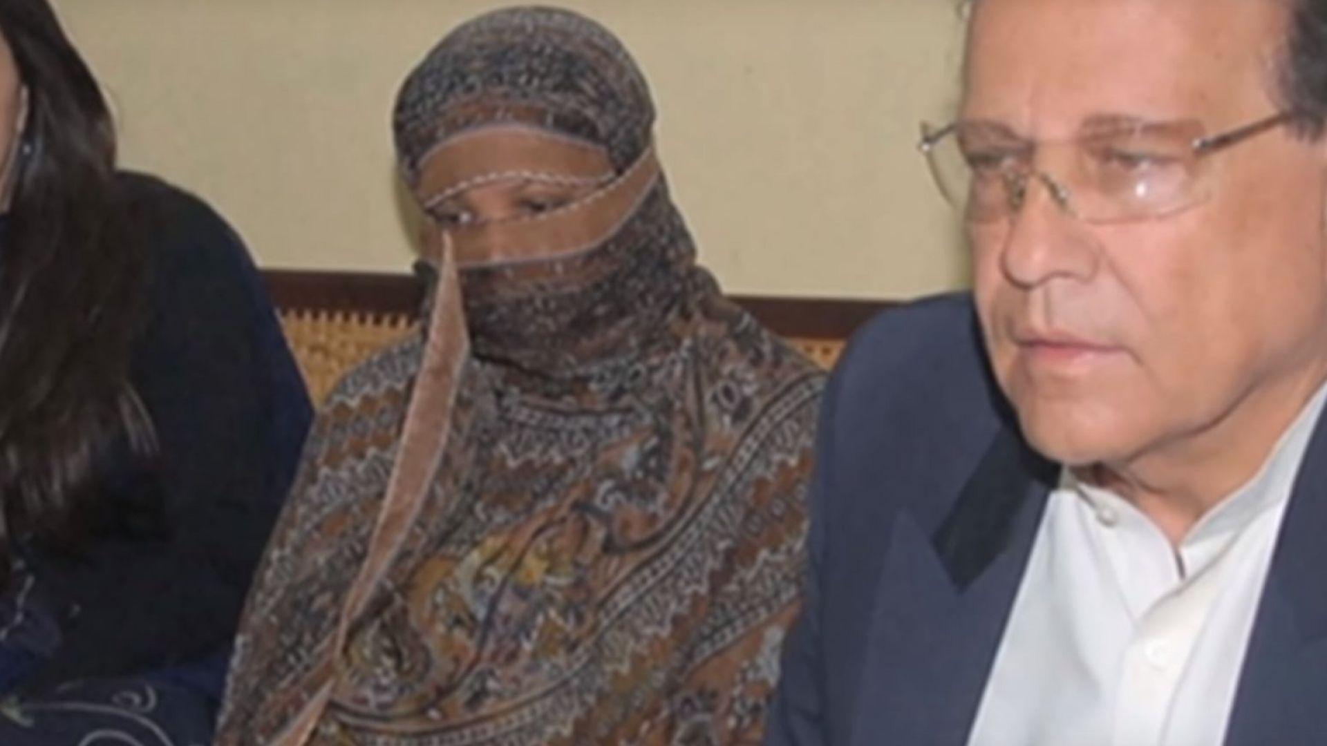 Християнката, чакала смърт за богохулство, се измъкна от Пакистан